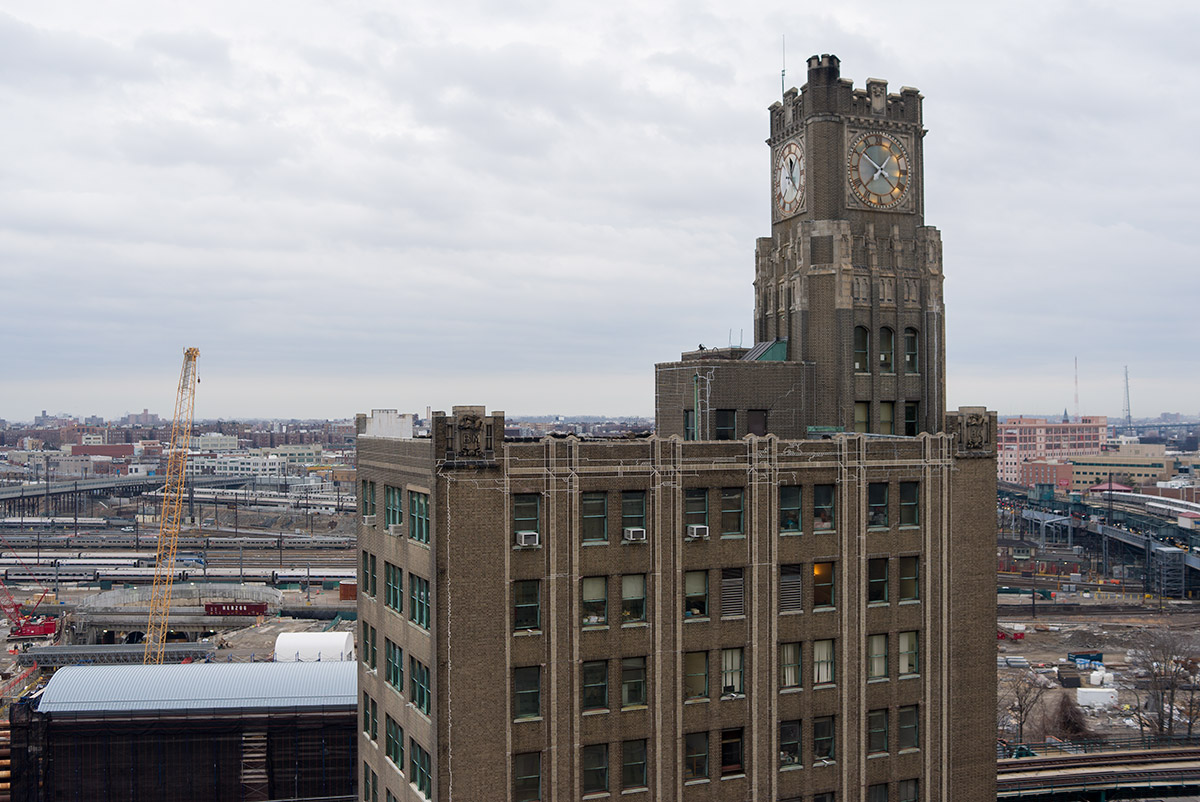 The Long Island City Clock Tower in Queens Plaza (credit: Michael Hall)