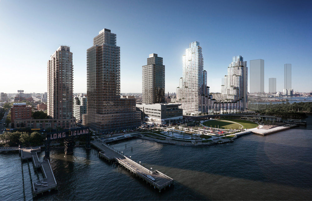 Rendering of Hunter's Point South residential towers in Long Island City