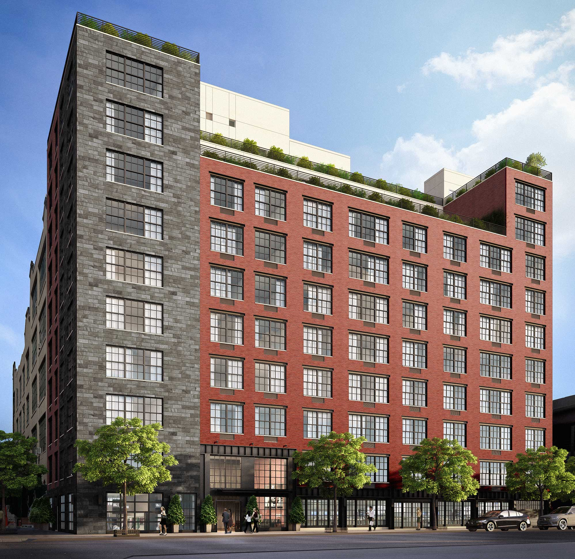 The Factory House, at 42-60 Crescent Street in Long Island City (credit: RDG/Douglas Elliman)