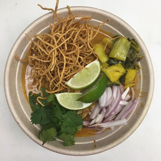 We have consistently had khao soi on the menu since we opened  but usually just during cold weather months. This year we kept it on during the Summer b/c it's become so popular.  Thank you for eating spicy food in the ST LOUIS heat and humidity.  We have noticed all the love you have shown this dish and we appreciate it!🙌🏽 However, it is coming off the menu next week just for a brief break. Promise. It will taste all the more delicious in the Fall—-trust us ❤️ In its place ——green curry —-come say hello! #chiangmai #fromscratch