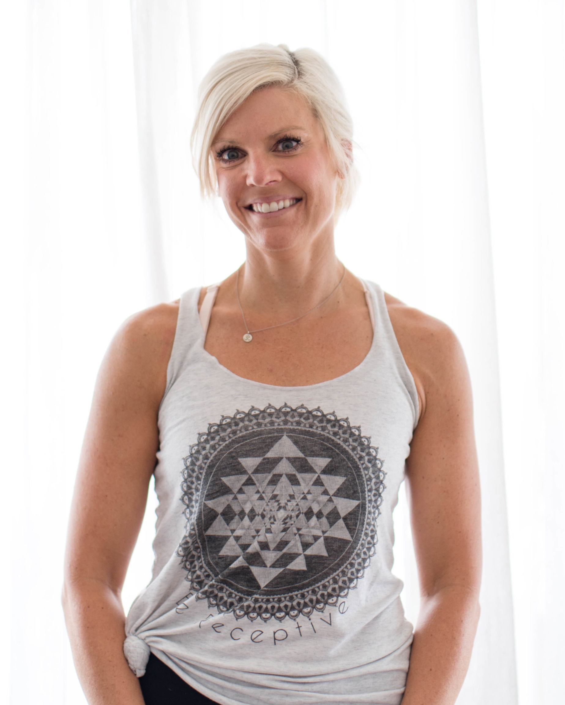 """Kelly Cerbone  Kelly has spent the last 14 years working part-time in the fitness industry. She loved the physical movement: challenge, perseverance, dedication; but needed something for her mind. She completed her 200 RYT this past July. Little did she know how much this experience would transform how she sees and perceives the world. As a veteran 7th grade school teacher, Kelly recognized how asana, mindfulness and community would greatly benefit her students. She most recently took a course on Yoga Calm for kids and began infusing these practices into her classroom. Kelly enjoys inspiring and empowering today's youth, as well as adults, through the practice of yoga, mindfulness and reflection.  """"Yoga does not transform the way we see things. It transforms the person who sees.""""  -B.K. Iyengar"""