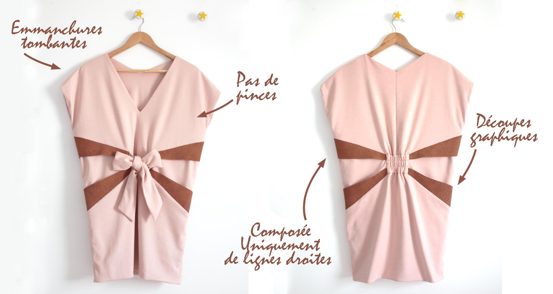 De toutes mes créations, celle qui s'approche le plus de la conception japonaise du vêtement est la robe Mélissa .