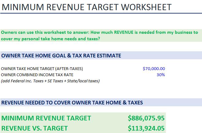 Revenue Target Worksheet