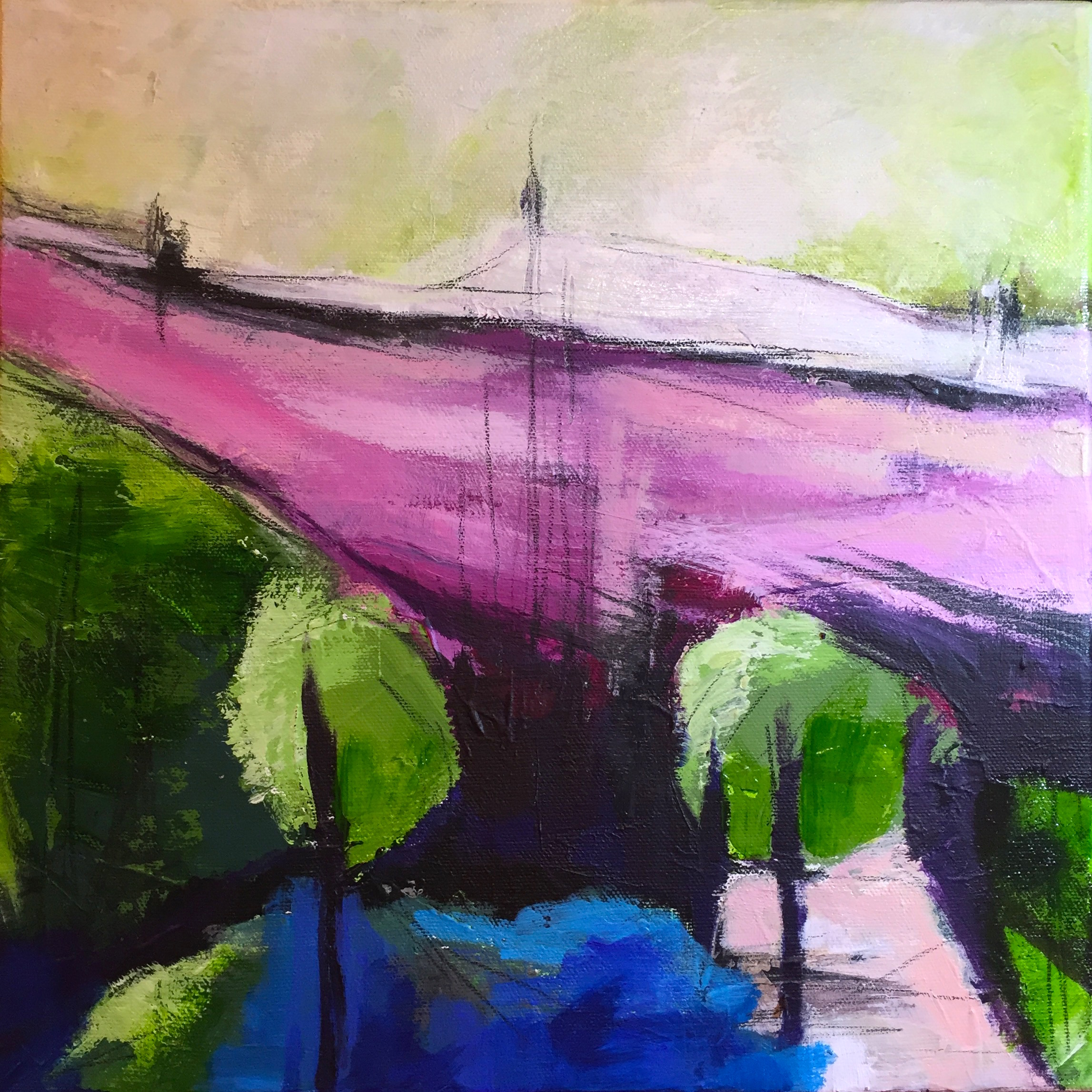 North London  - acrylic on canvas 30x30cm CHARITABLE DONATION