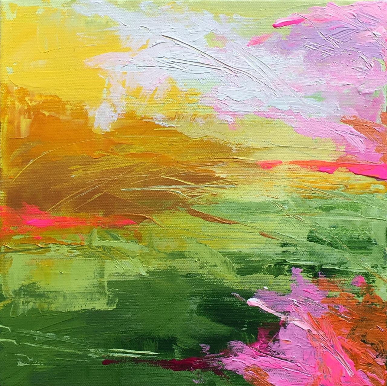 High Weald - acrylic on canvas  25x25cm