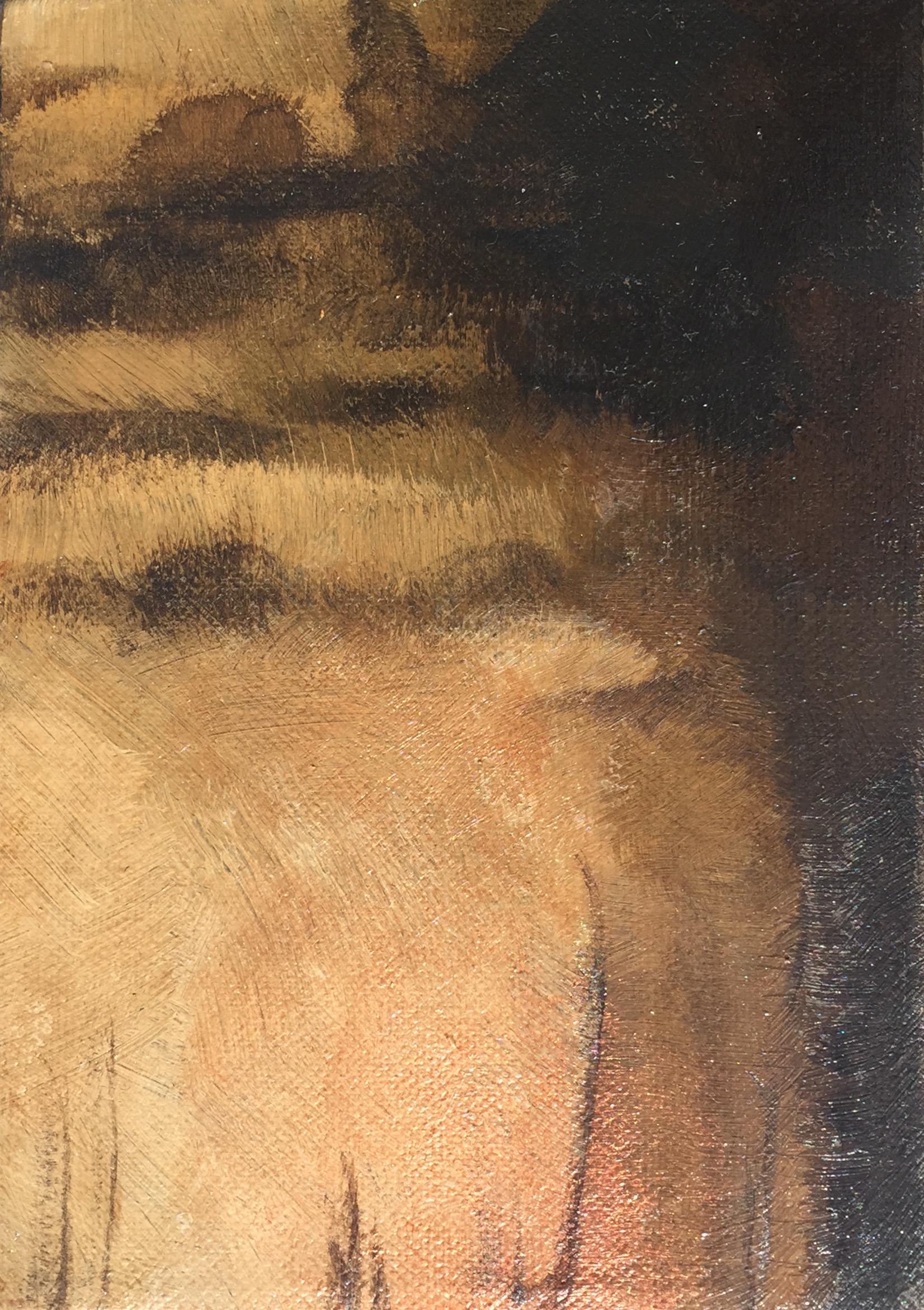 Suffolk Dusk - acrylic on canvas  12x17cm £45