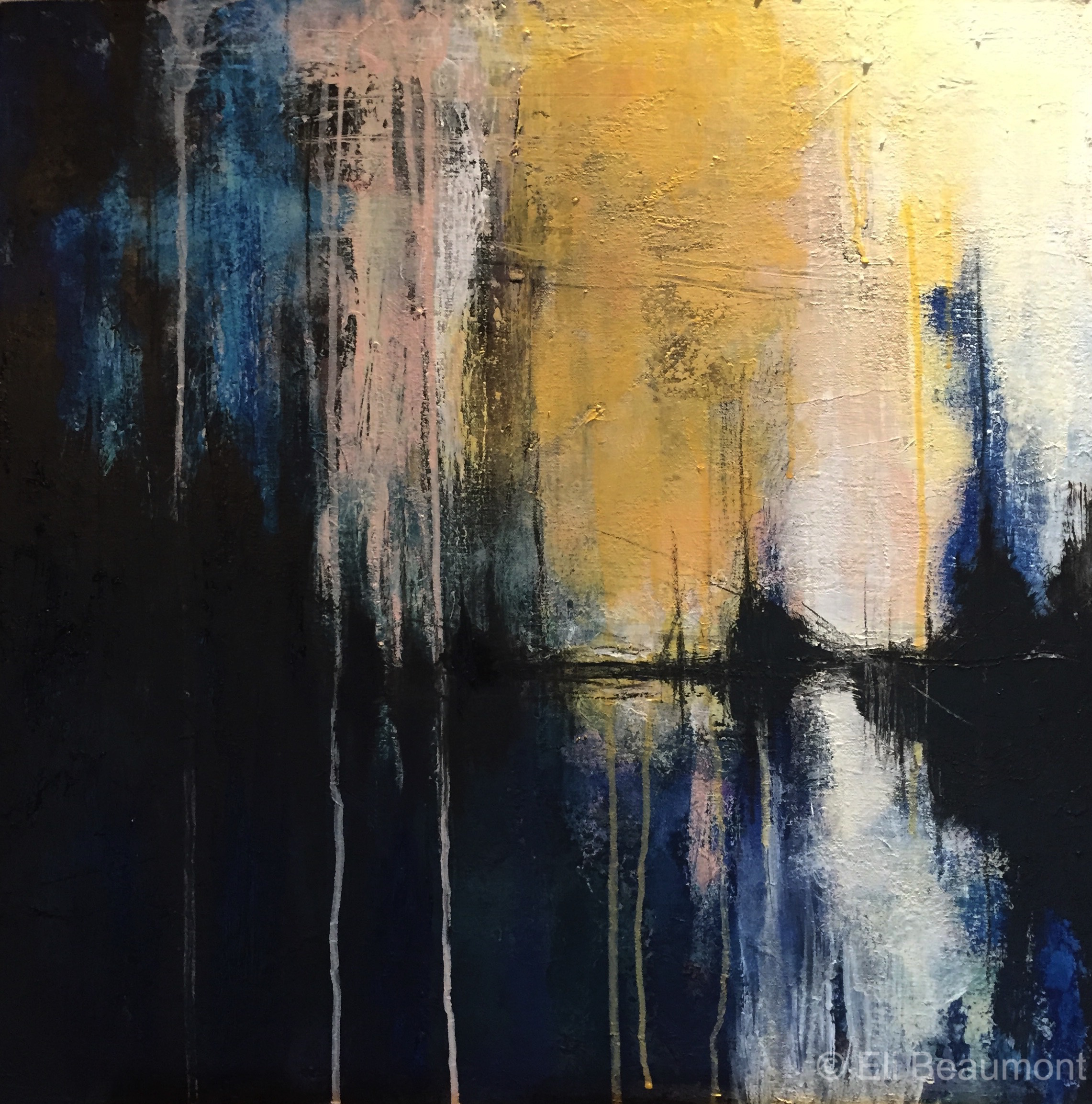 Inside Out - acrylic on canvas  60x60cm