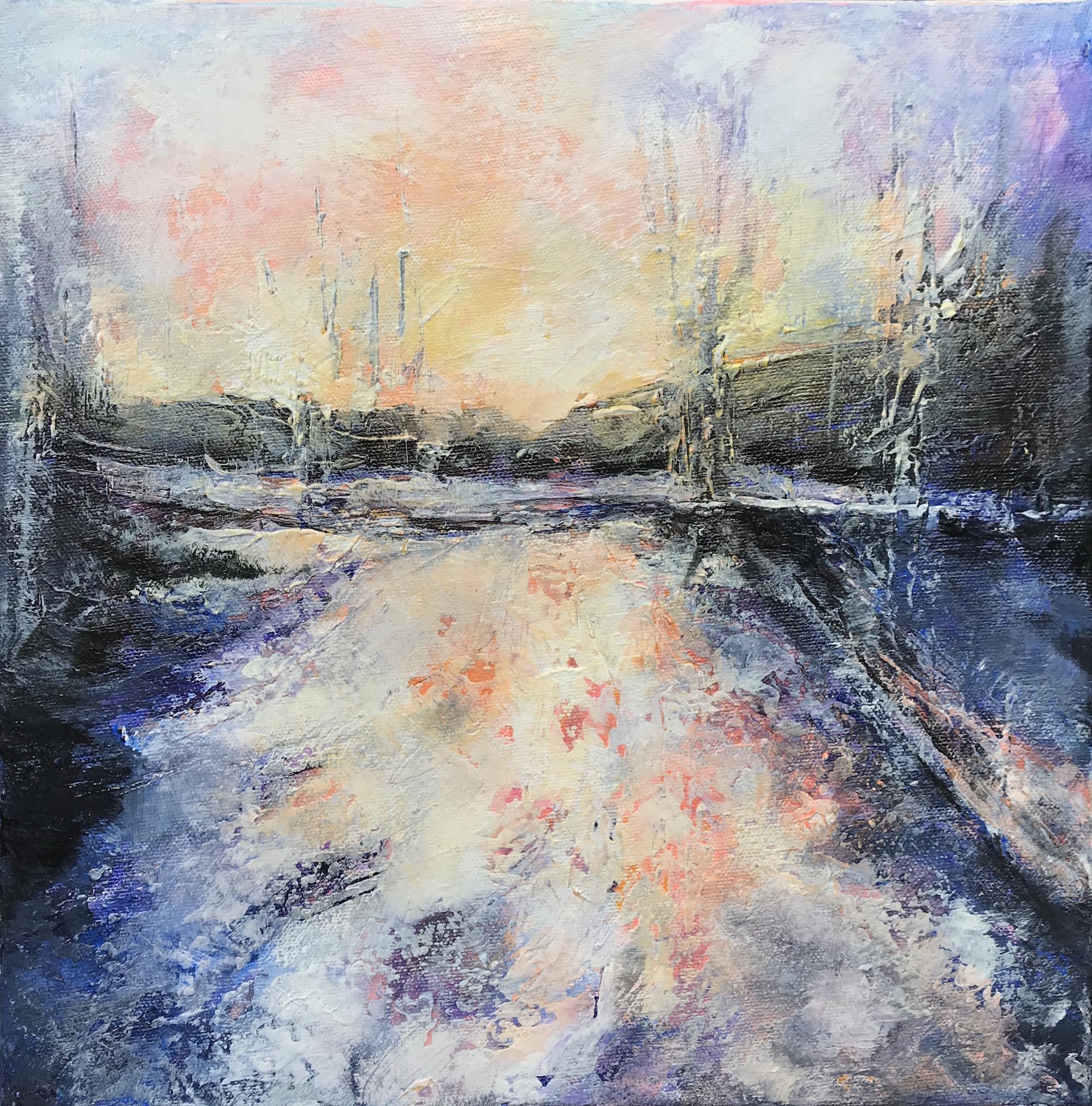 Snow Day 1 - acrylic on canvas  30x30cm £100