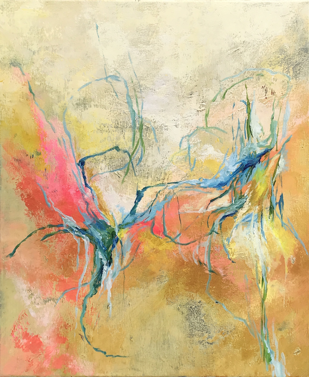 Untitled - acrylic on canvas 50x60 cm £350
