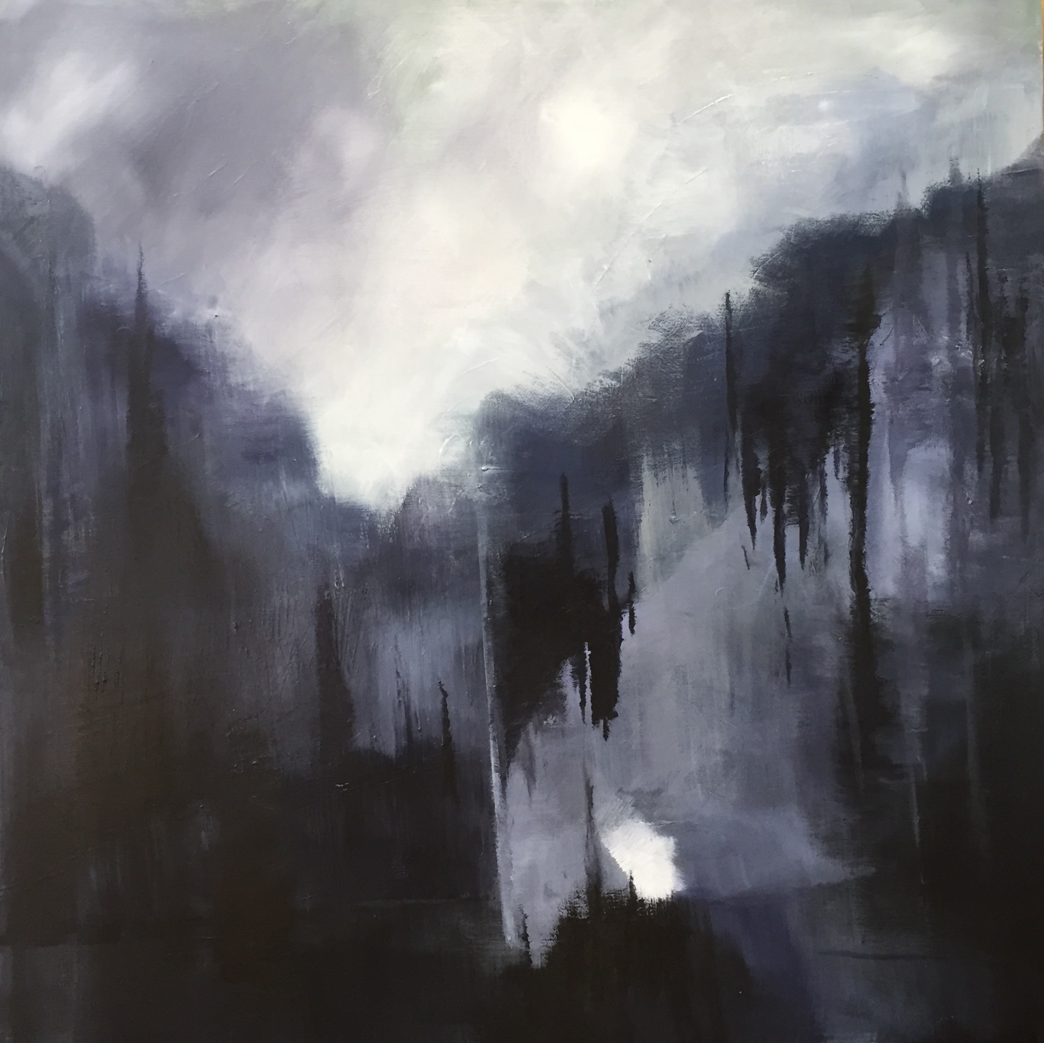 Alpine Night - acrylic on canvas  80x180cm