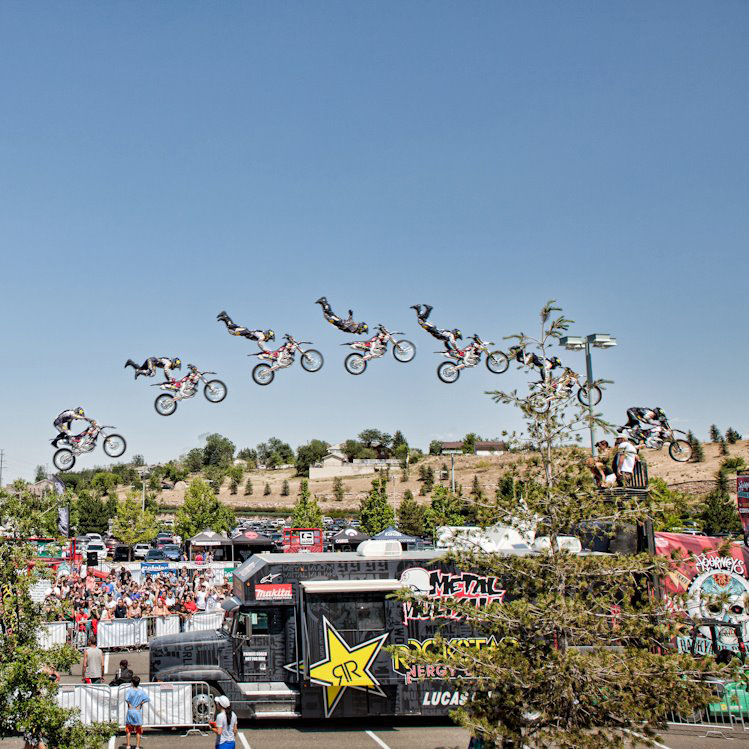Step Up Productions Freestyle Motocross at Journey's Backyard BBQ