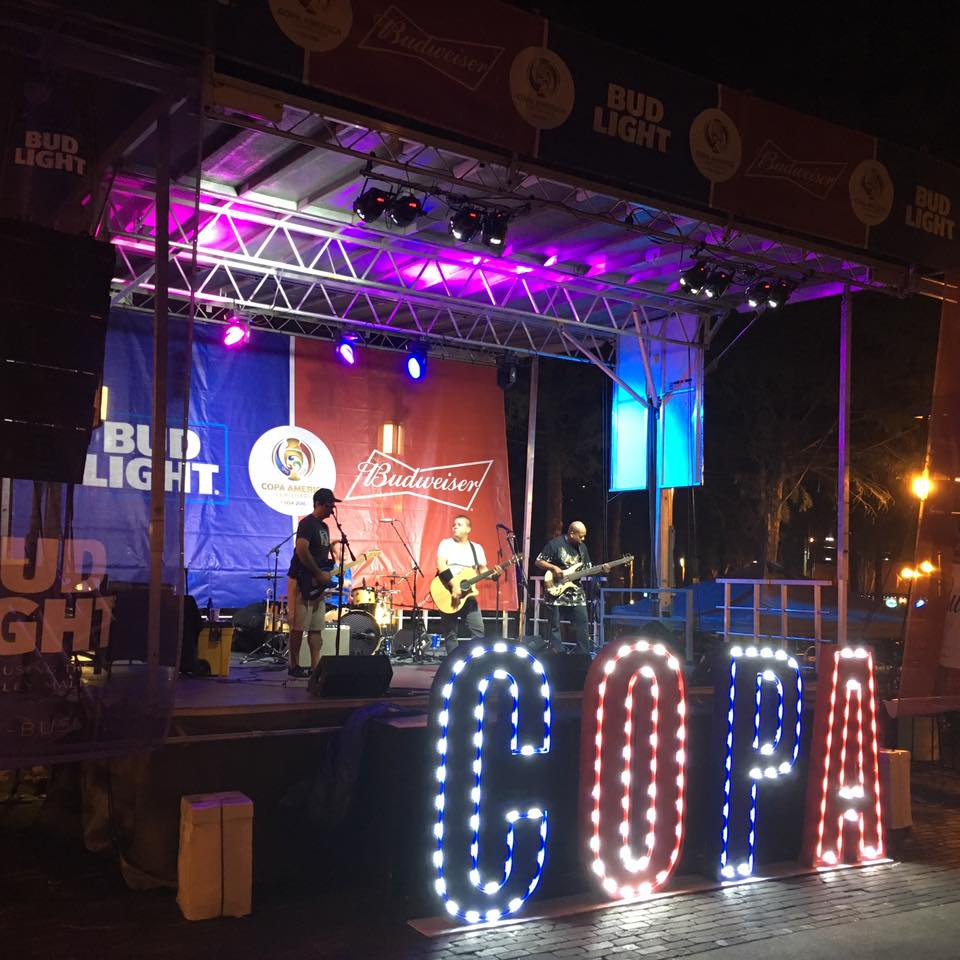 Step Up Productions Platinum stage for Copa America