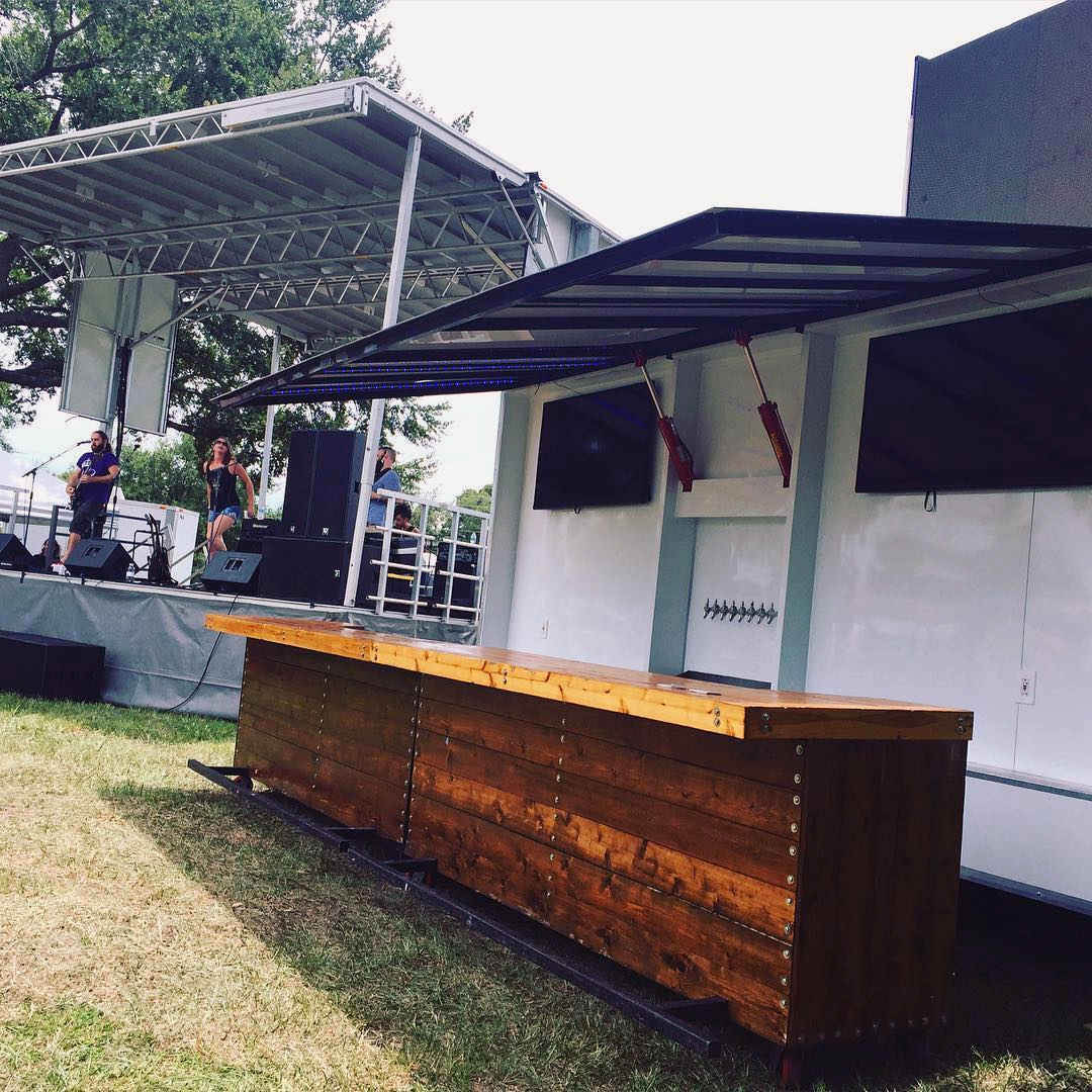 Step Up Productions signature mobile video wall & bar.
