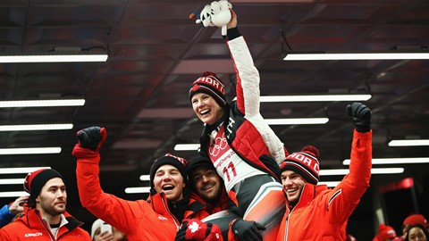 Canadian luger Alex Gough wins women's singles bronze. Calgary athlete becomes 1st Canadian to win a singles luge medal  Photo source: olympics.cbc.ca