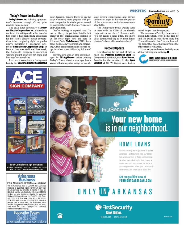 SOURCE: Arkansas Business
