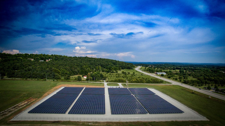 1 Megawatt Community Solar Field - Ozarks Electric Cooperative - Springdale, AR