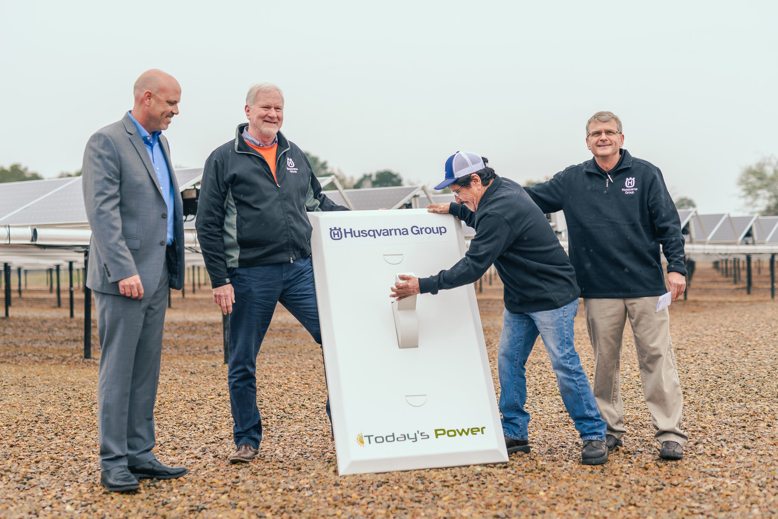 After more than 40 years of employment at Husqvarna's Nashville-based plant, their most tenured employee flipped the switch on Husqvarna Group's 1 Megawatt Solar Array.
