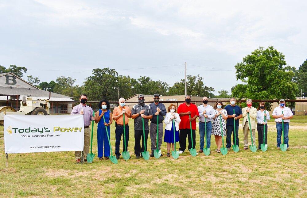 Bearden School Board & TPI Leadership breaking ground on future solar site