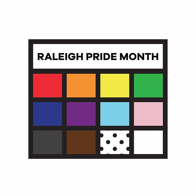 We did a thing last month with our good friends @viderichocolate and @myriad_media ! It all started with a simple calendar graphic that stretched into a month long symbol of Pride. This rad little rainbow became live online and across the whole city of @raleighgov. We are proud to help with the design, serve the community, and to be a part of it all.  Brand and Web by mates @its_gino_reyes @ericmitchellcox and @jbelflower  Organization by @roxlundy @trey_sux @lamminate and the awesome folks @lgbtcenterofraleigh  #loveislove