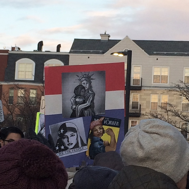 Rally for Immigrant and Refugee Rights West Hartford