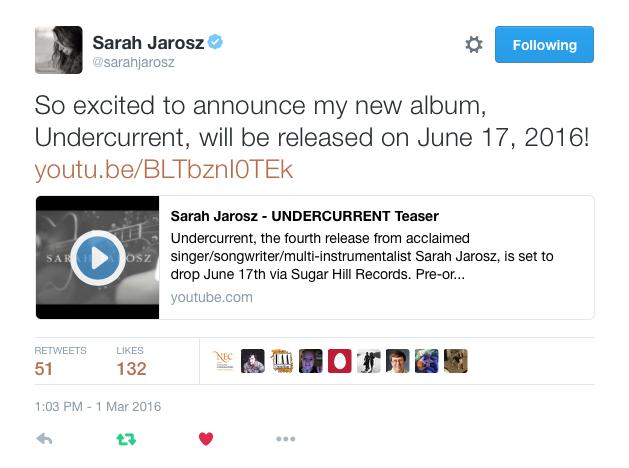 Sarah Jarosz Twitter