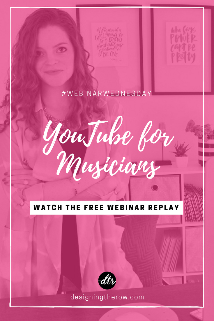 YouTube for Musicians, free webinar replay
