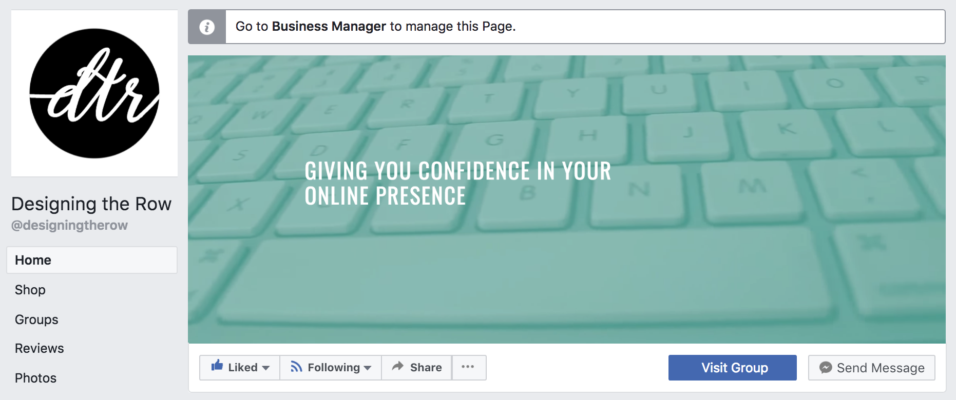 Business Manager Facebook Page