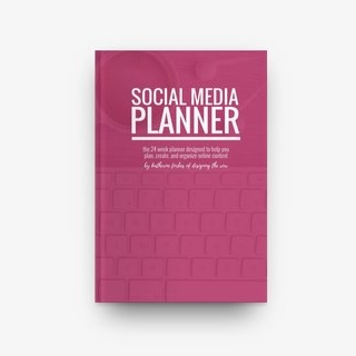 Social Media Planner - A 24 week planner designed to help you plan, create, and organize online content