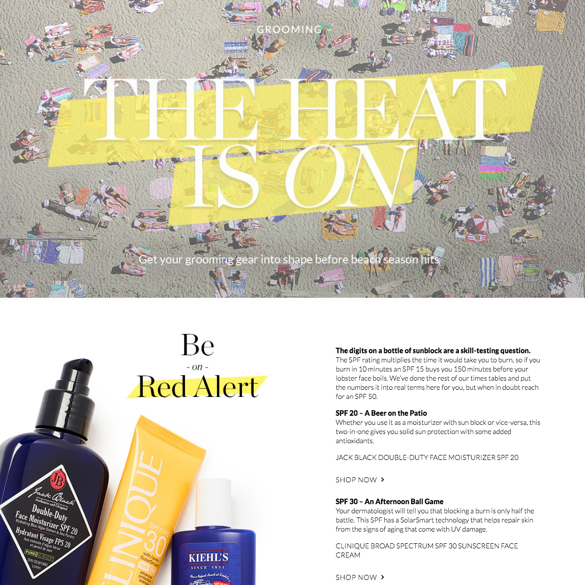 The Heat Is On | Holt Renfrew