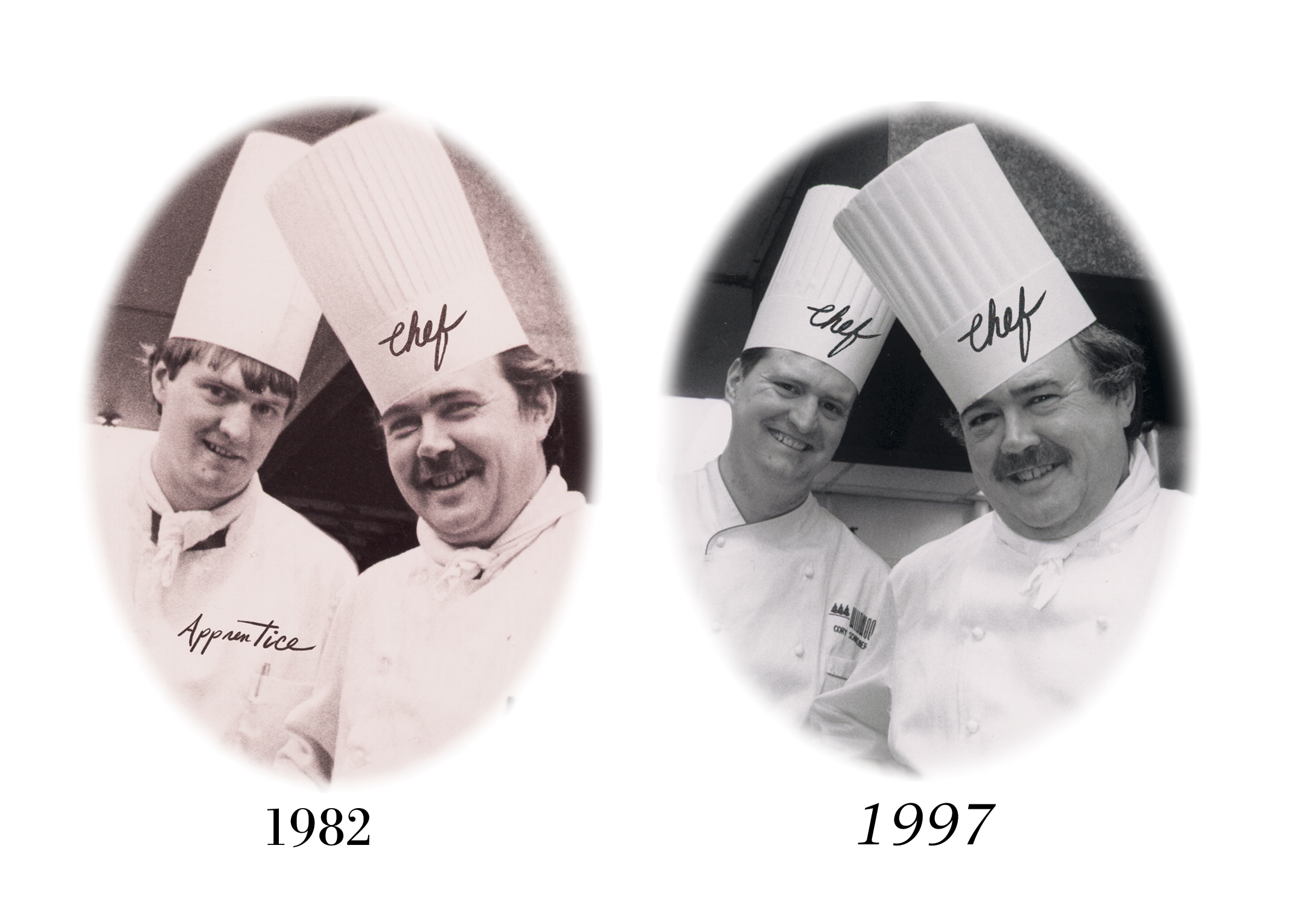 A postcard that was created to showcase a dinner that Chef Bauser and I did together at Willakenzie Winery in Oregon's Willamette Valley  in 1997. CS