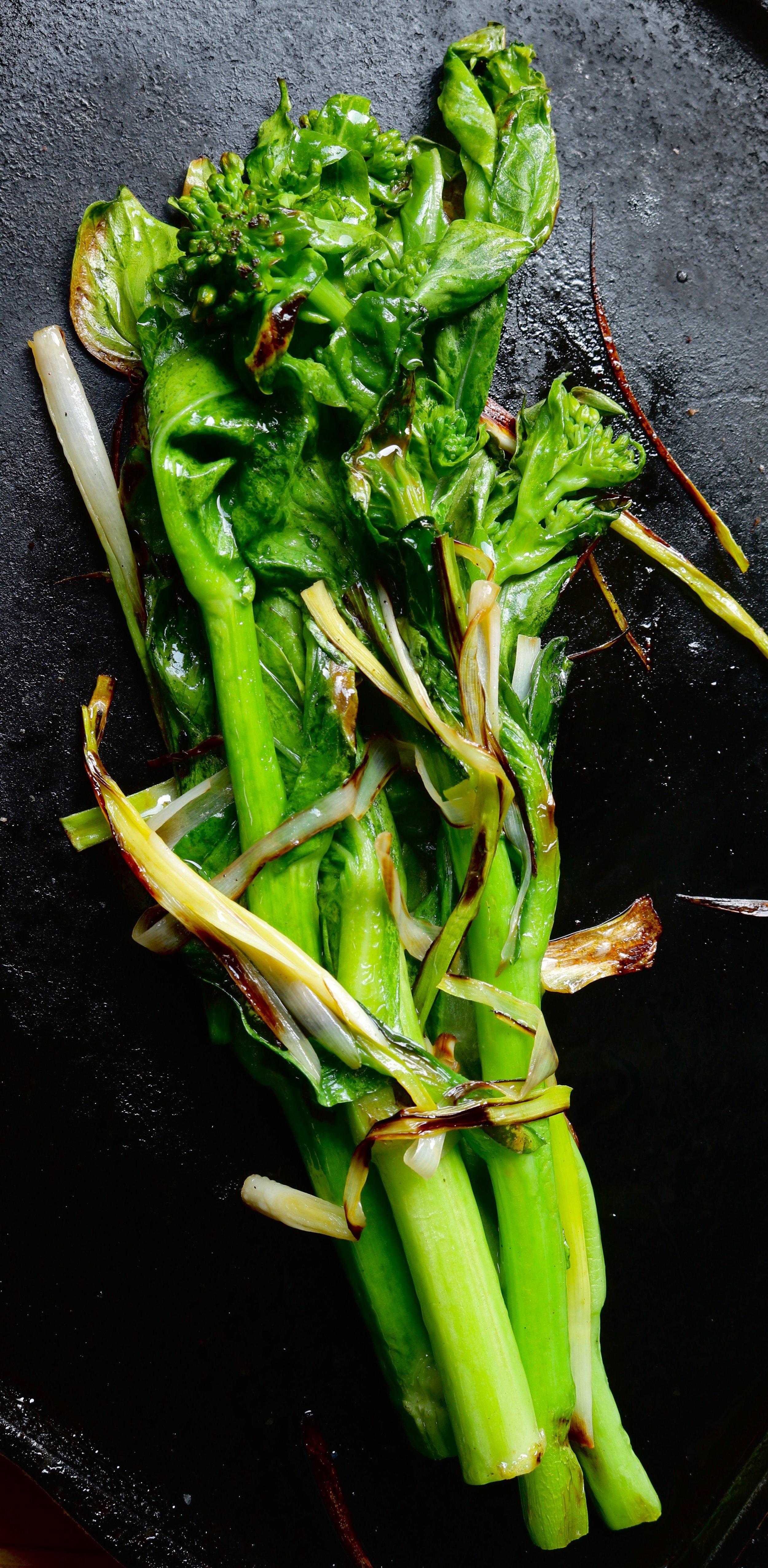 Bok Choy Raab with green garlic