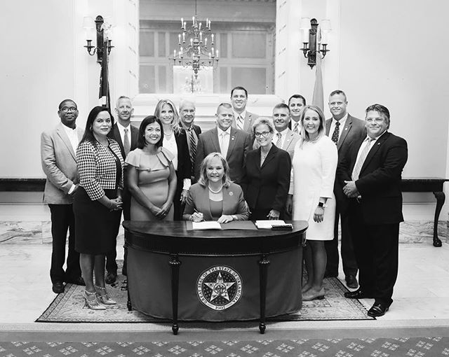 During National Domestic Voilence Awareness week, the coalition that supported HB1466 got together for a formal bill signing with the Governor. HB1466 went into effect on November 1 & allows victims of domestic violence to keep their own cell phone. Proud to be a part of this group!