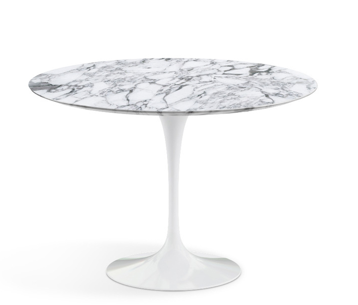 The Saarinen Table, from Knoll in Arabescato marble with satin finish