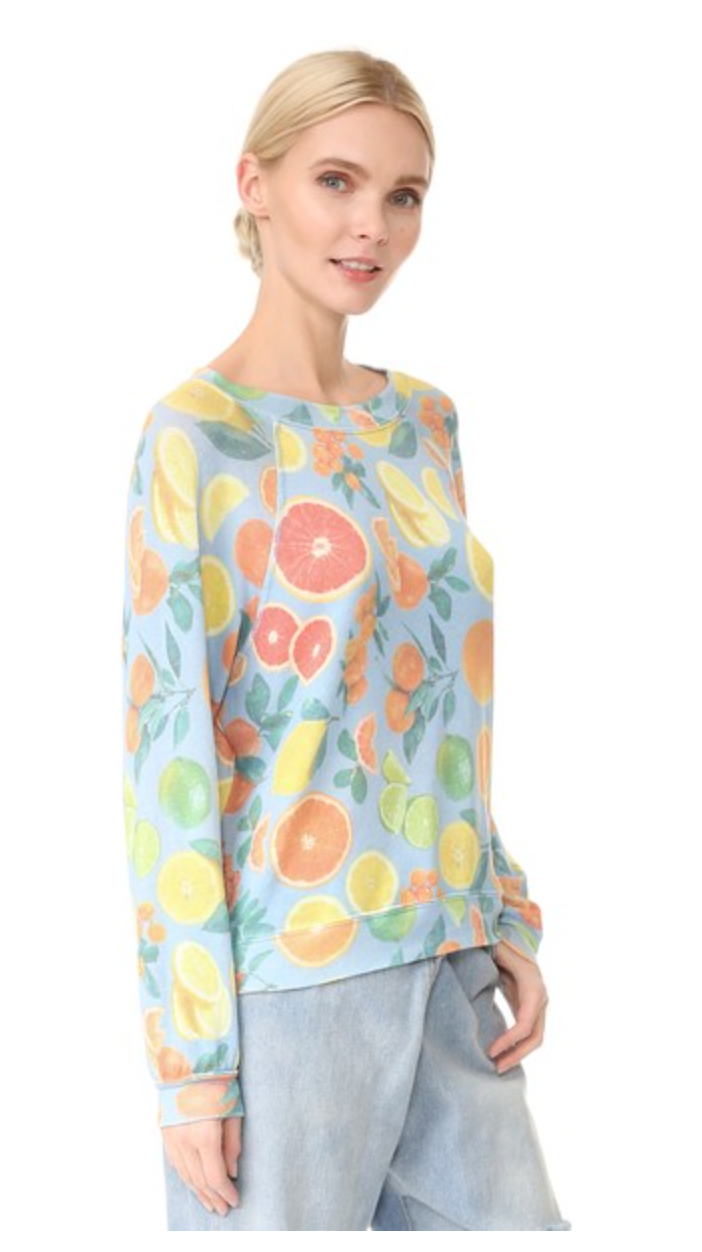 This season is all about fresh citrus, especially with this trendy  Wildfox  Popover