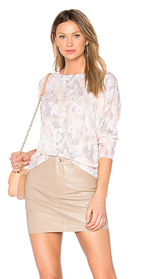 Dress up + dress down the  Equipment  Melanie Sweater with its pretty Parason Peach pastel