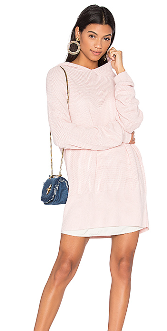 This  LPA Sweater  in Blush makes me blush -chic but can be worn with tights for  cozy - chic-style !