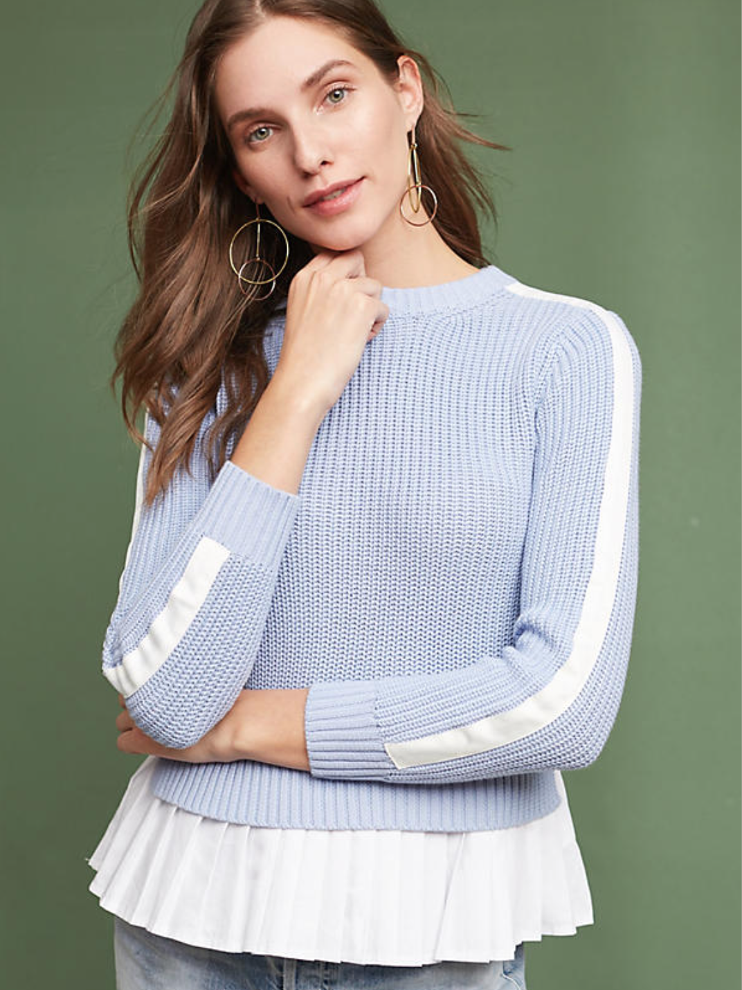 This Darcy Pullover from  Anthropologie  has wear-to-work-and-play written all over it