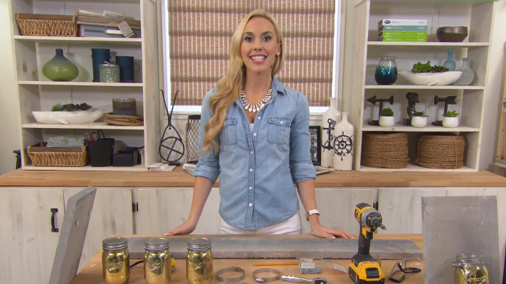 HGTV'S Home To Win   DIY Mason Jar Storage   Behind The Design : Check out Mia Parres' excellent DIY mason jar storage idea on  HGTV' s website, and try out your own version at home!