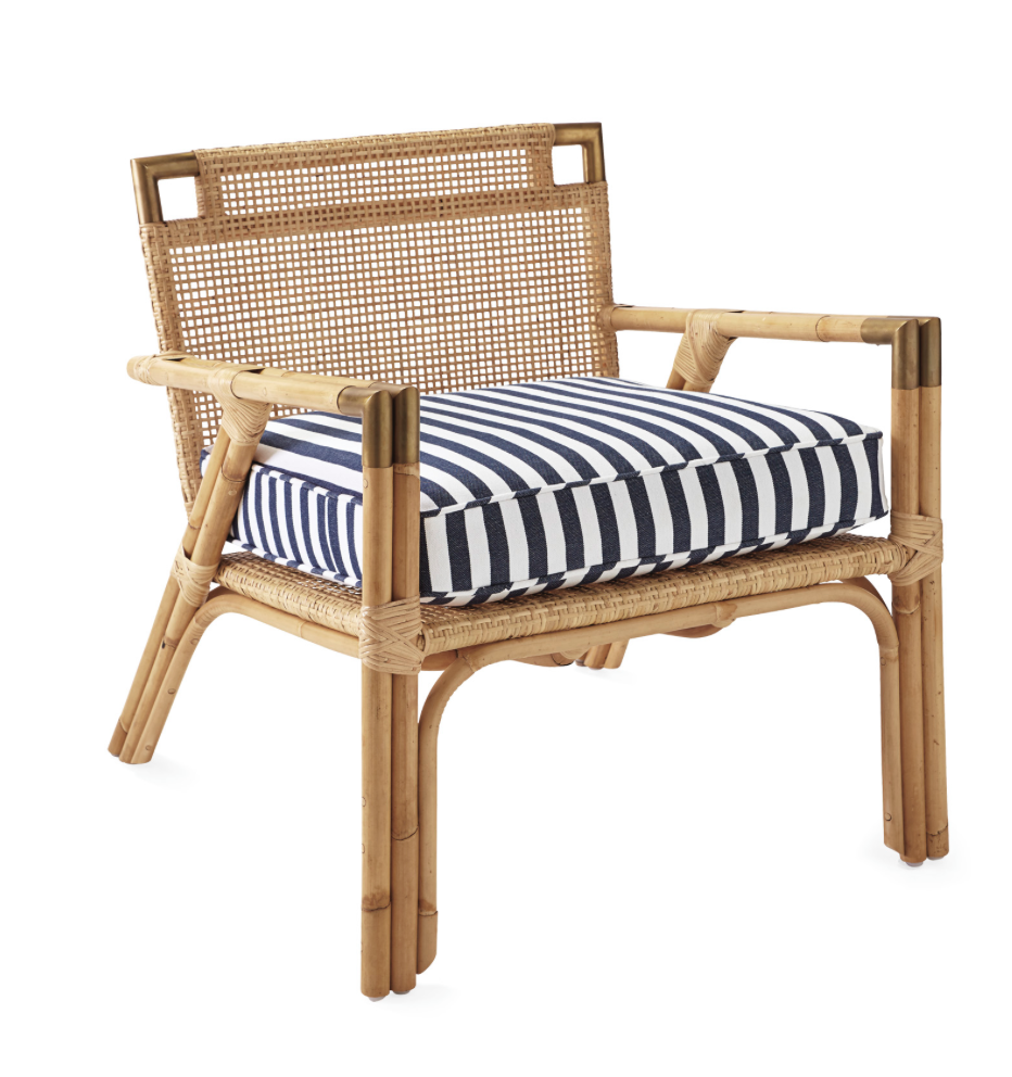 This is the perfect island chair, the Mattituck Armchair by  Serena and Lily