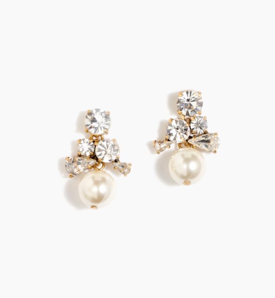 J Crew - Pearl Cluster Earings