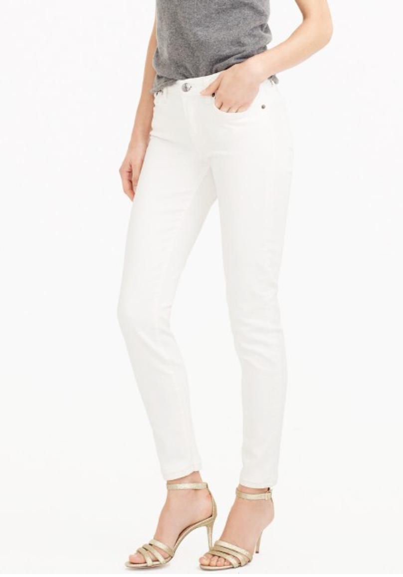 J Crew - Toothpick White Jeans