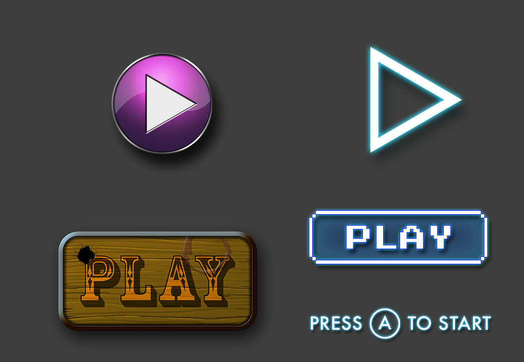 Play Button Options Art Test