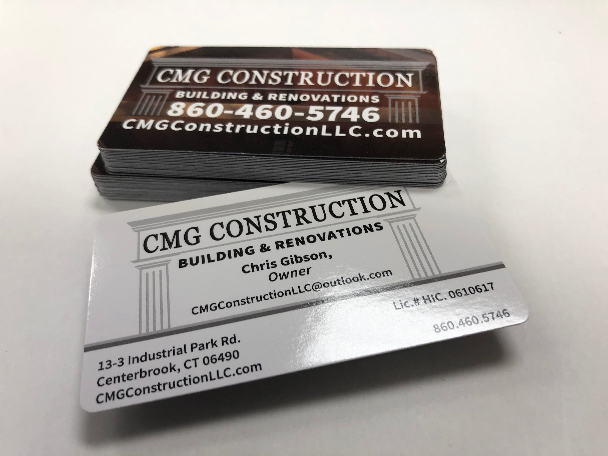 CMG Construction Business Cards