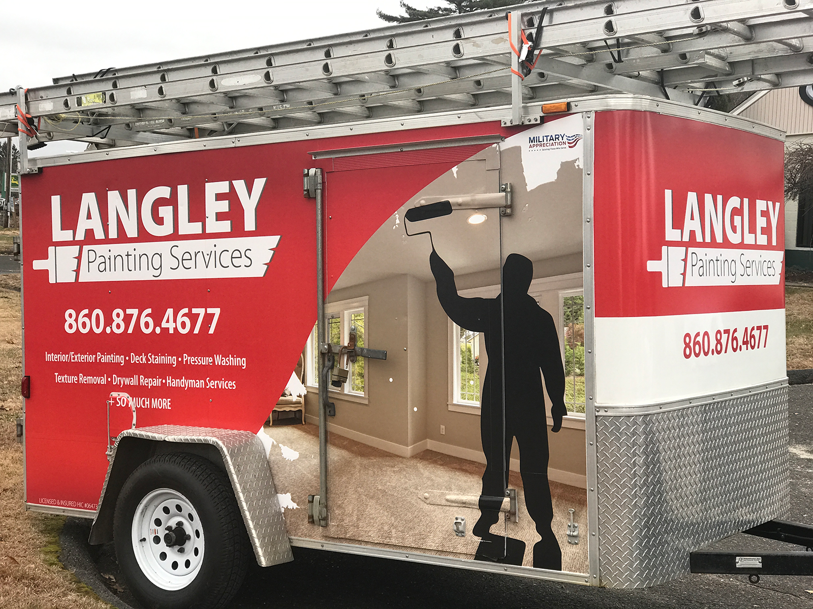 Trailer Design for Langley Painting Services