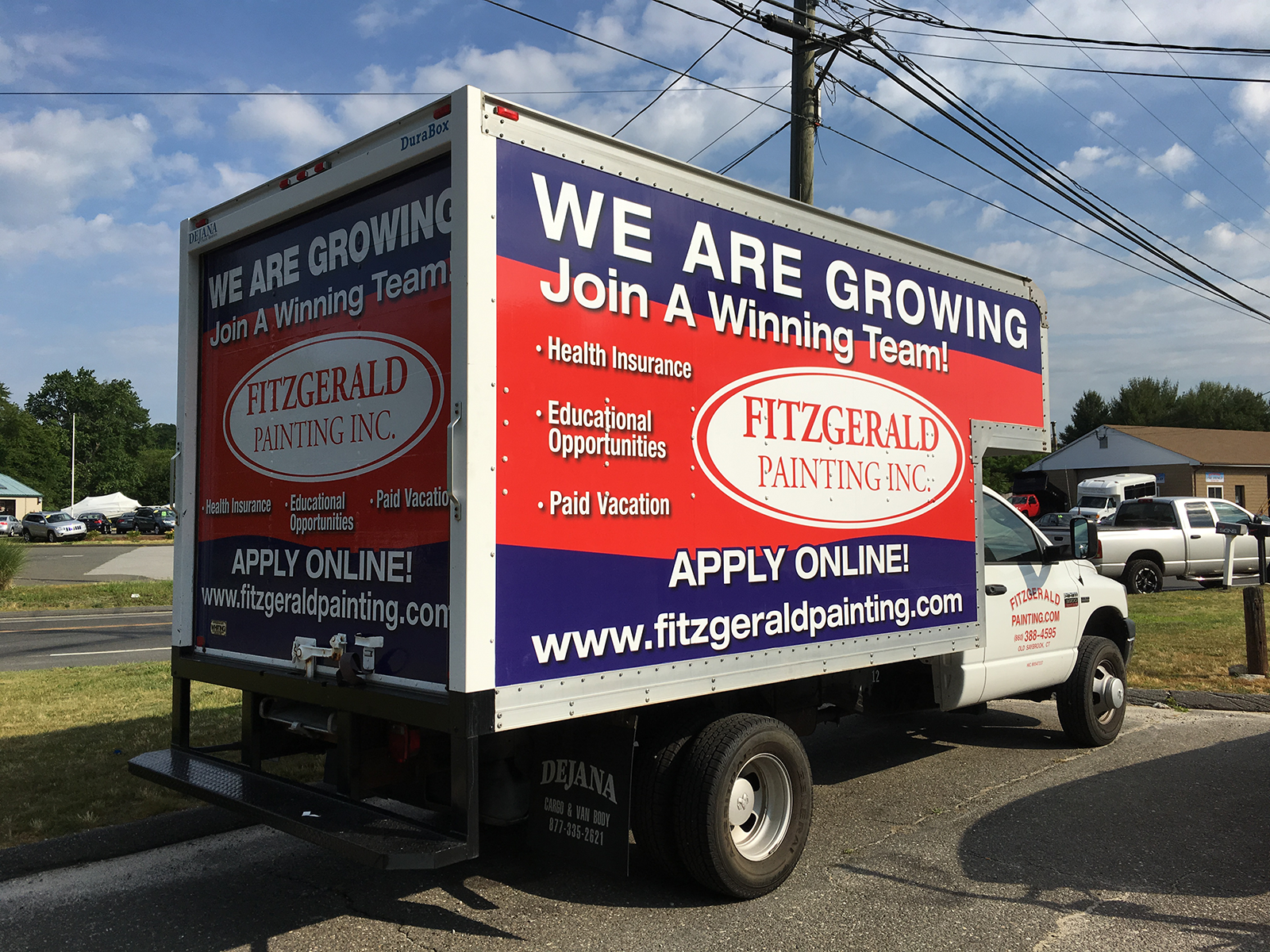Box Truck Ad for Fitzgerald Painting Inc.