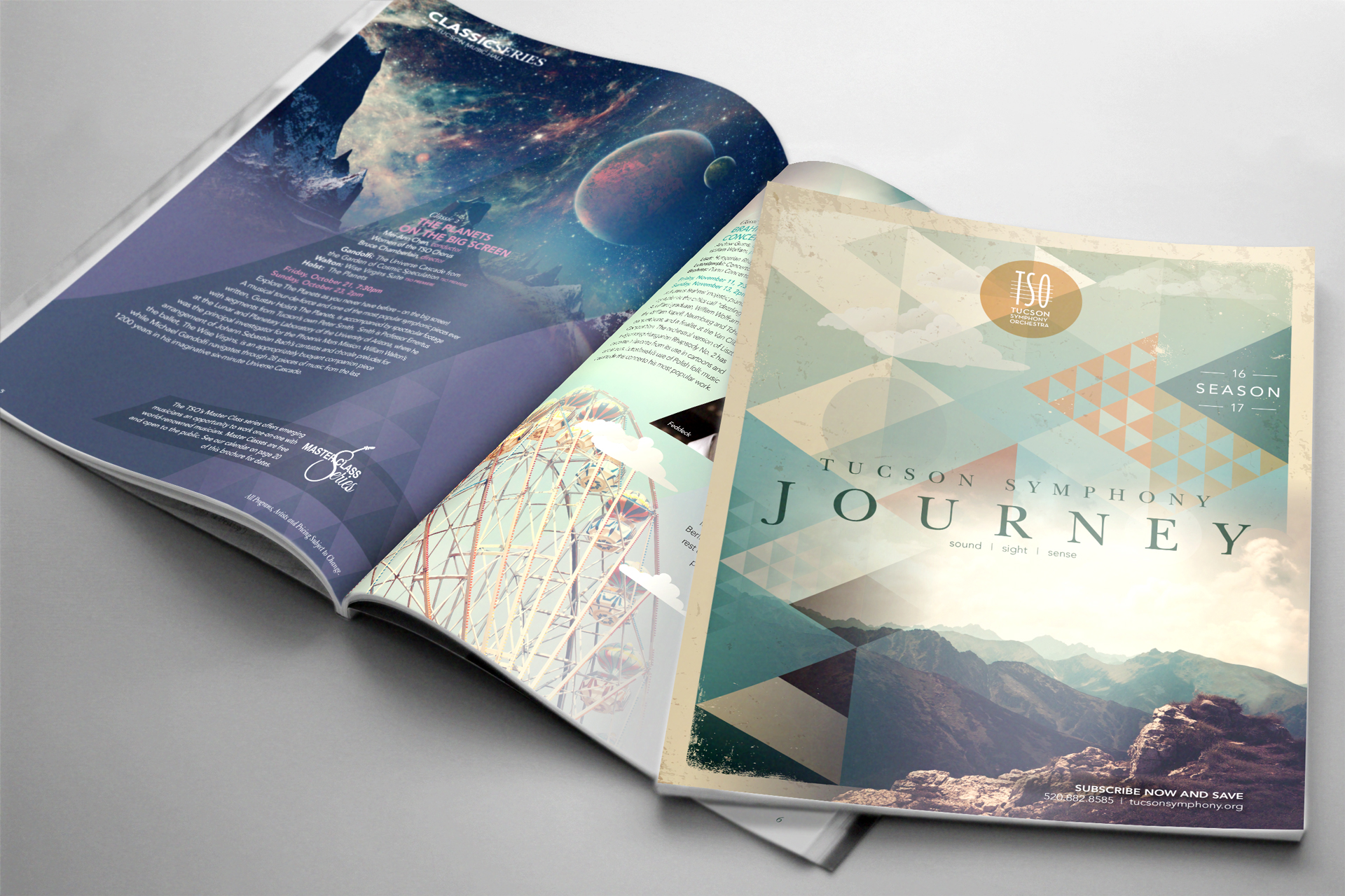 Tucson Symphony Orchestra • 2016 Brochure Cover Design