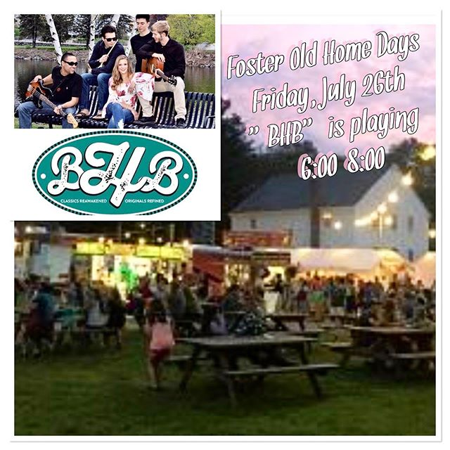 "Friday Night Foster Old Home Day's Begins! ""BHB"" playing 6:00-8:00 at the Foster Fair Grounds! #bhbclassics #fosteroldhomedays #fridaynight #hometown #ourneckofthewoods #classics #livemusi #localmusicians #fosterrhodeisland"