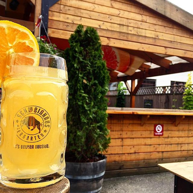 Schweinhaus Biergarten in Bellingham - is our home for outdoor yoga and beers on Aug 5. YES!