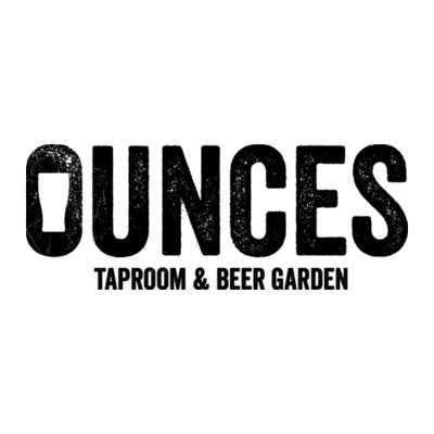 Ounces Taproom & Beer Garden Logo   Just Add Yoga Partner