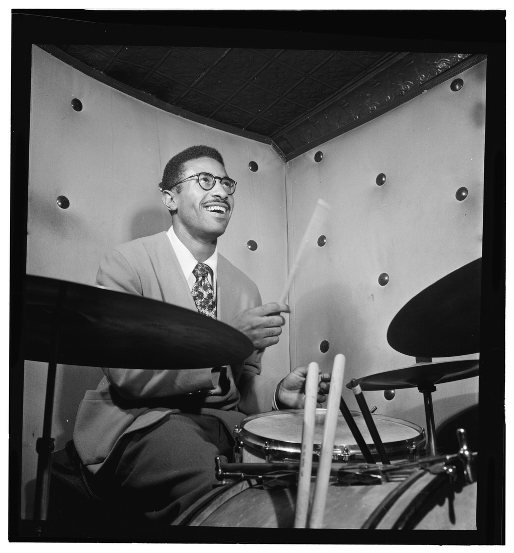 Portrait of Max Roach in NY Courtesy of the Library of Congress